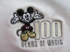 """DISNEY """"100 Years Of Magic"""" Mickey Mouse Embroidered SS Polo Golf Shirt Size XL"""