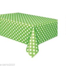 GREEN POLKA DOTS PLASTIC TABLE COVER ~ Birthday Party Baby Shower Supplies Cloth