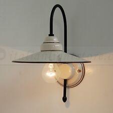 APPLIQUE LAMPADA PARETE CERAMICA DECORO CRAQUELE CLASSICA RUSTICA COUNTRY
