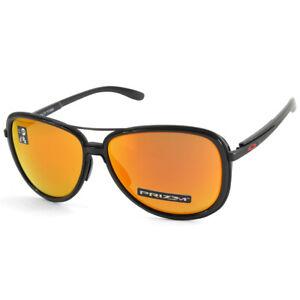 Oakley Split Time OO4129-04 Matte Black/Prizm Ruby Women's Fashion Sunglasses