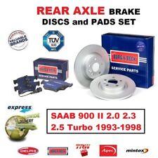 Pour Saab 900 II 2.0 2.3 2.5 Turbo 1993-1998 Essieu Arrière Frein Disque (286mm)