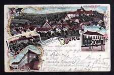 103561 AK Bad Iburg Litho 1900 Hotel Gersemann Schloss Kloster Schlossplatz