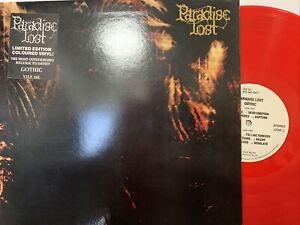 Paradise Lost – Gothic LP 1991 Peaceville – VILE 26L EX/EX UK - RED VINYL