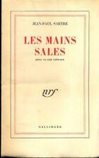 LES MAINS SALES  SARTRE JEAN PAUL  GALLIMARD 1948