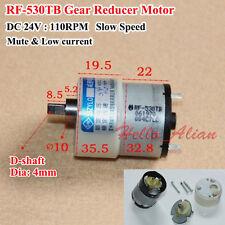 DC 24V 110RPM Slow Speed D Shaft Micro Gear Motor RF-530TB Gearbox Reducer Motor