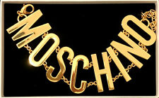 MOSCHINO [TV] H&M Gold-plated metal chain necklace with large letters SOLD OUT