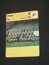 SPORTSCASTER FICHE CHAMPION RUGBY  CARDIFF RFC 1976 WALES  PAYS DE GALLES