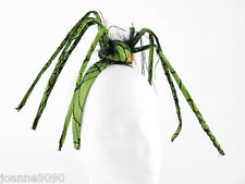 NEW HALLOWEEN GREEN SPIDER HEADBAND FASCINATOR HAT FANCY DRESS COSTUME ACCESSORY