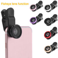 3 in 1 Wide Angle Macro Mini Fisheye Phone Camera Lens Kit for iPhone Samsung