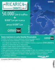 CARTA BASE RICARICA OMNITEL 50.000 LIRE LA TERRA VISTA DALLO SPAZIO VEDI FOTO
