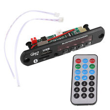 DC 12V Car Auto LED USB Bluetooth MP3 Decode Board FM Radio Amplifier Remote
