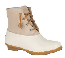 NIB Women's Sperry Saltwater Duck Boots in Ivory STS84428