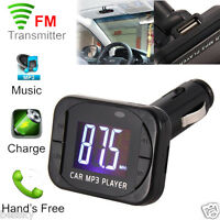 Car MP3 Player Wireless FM Transmitter Modulator Car Kit USB SD MMC LCD Remote
