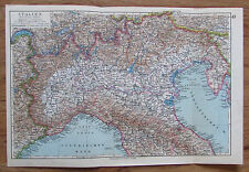 Italien Nördliche Hälfte - alte Landkarte Karte old map 1928