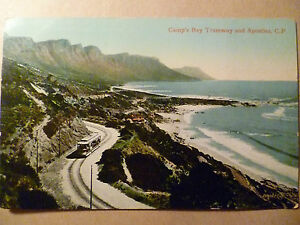 Postcard- CAMP'S BAY TRAMWAY AND APOSTLES, C. P., Africa