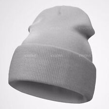 90ce7d7f7ec Beanie Plain Knit Hat Winter Warm Cuff Cap Slouchy Skull.