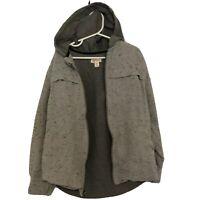 Cat & Jack Boy's Size 6/7 Gray Zip Up Jacket, Coat with Hood