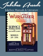 Wurlitzer Models 24 and 24A Service Manual, Diagnosis Charts & Color Brochure