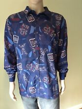 M.F. Girbaud Brand New Men's L/S Harry Up Buttons Shirt , Size 2XL , Color Navy