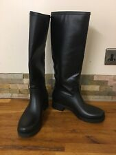 MM6 by Maison Martin Margiela  Coated-Canvas And Rubber Rain Boots Size UK 6