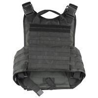 NcStar BLACK Police Military Tactical MOLLE / PALs Adj Plate Carrier Vest