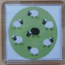 Baa Baa Black Sheep coaster - can be personalised