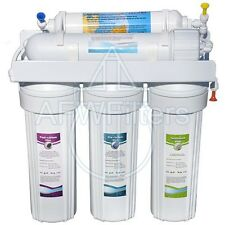 New 6 Stage With UV Reverse Osmosis Water Filter RO * Free Flowlok leak protect