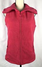 Lands' End Womens Pink Fleece Vest  Insulate Full Zip Size Small 6-8