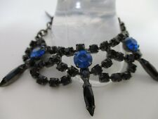 JOOMI LIM Black crystal Spike swarovski glass crystals Bracelet NWOT $195 BLUE