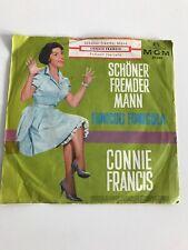 """7"""" CONNIE FRANCIS -- SCHÖNER FREMDER MANN / FUNICULI  FUNICULA"""
