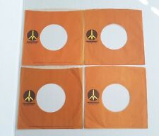 Monument Records Company 45 RPM Vinyl Record Sleeves Lot of 4 Brown