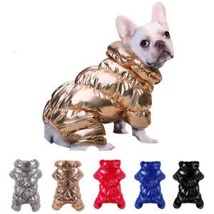 Waterproof Small Dog Winter Jumpsuit Puppy Jacket Coat Fleece Warm Outfit XS-2XL