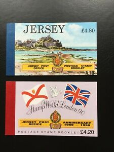 2 x JERSEY Post OFFICE Stamp Booklets, 1990/1 Mint