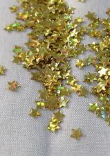 100 Sterne Streuelemente  Streudeko  Kartengestaltung  Basteln  gold Holo  4mm