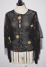 Christian Dior Boutique Paris Cardigan Mesh Beaded Sweater & Cape XS