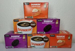 Dunkin' Mixed Flavor Coffee Variety Pack 60 Keurig K-Cup Pods BB 07/2021