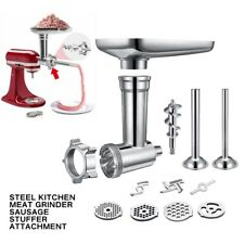 Steel Meat Grinder Sausage Stuffer Attachment Kit For KitchenAid Stand Mixer
