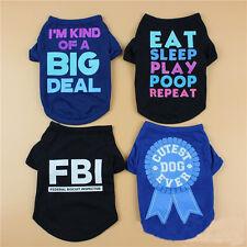 Summer Pet Clothes Shirt Dog T Shirt Cat Poodle Puppy Bulldog Vest Shirt Apparel