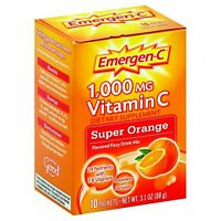 Emergen-C Original Formula - 1000 mg Vitamin C - Super Orange - 10 Packets