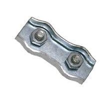 25 Stück Duplex Drahtseilklemmen 6mm Stahl verzinkt Drahtseilklemme Drahtseil