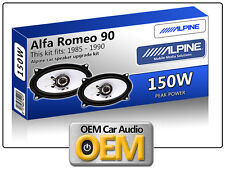 ALFA ROMEO 90 PORTA ALTOPARLANTI ALPINE CAR SPEAKER KIT 150W MAX POWER 4x6