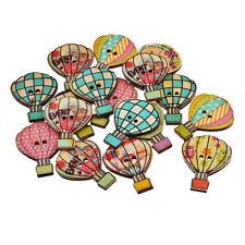 50PCS globo de fuego botones de madera de costura Button Artesanía de botone nhv