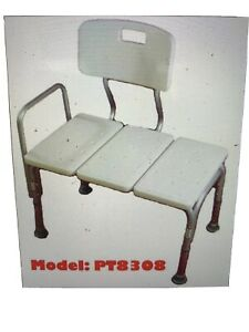 MedMobile Bathtub Transfer Bench / Bath Chair With Back, Wide Seat , Adjustable