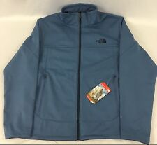 The North Face Men's Canyonwall Jacket WindWall Full Zip Moonlight Blue Size L