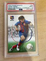 2004 Panini Sports Lionel Messi Mega Cracks Barca - Campeon #62 PSA 9 TUFF 10