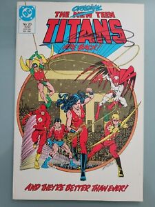 NEW TEEN TITANS #20 (1986) DC COMICS AUTOGRAPHED by COVER ARTIST GEORGE PEREZ