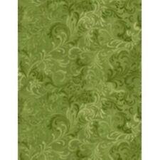 "Wilmington Prints Flourish Green 108"" wide 6608-770"