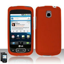 For LG Thrive Rubberized Hard Protector Case Snap on Cover Rubber Orange