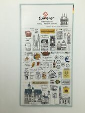 Frankfurt Germany holiday PVC Sticker Travel Scrapbooking Card Diary Craft DIY