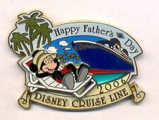 Disney Cruise Line Father's Day Mickey Ship Pin Le 500 New on Card